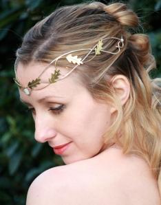 Corona tiara tocado novia
